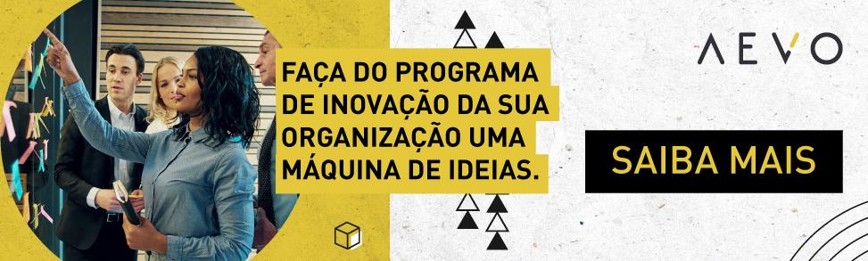 faça do programa de inovação da sua organização uma máquina de ideias | solicite demonstração | AEVO Innovate